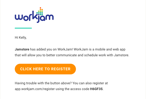 How to Register Your Account – WorkJam Support Center